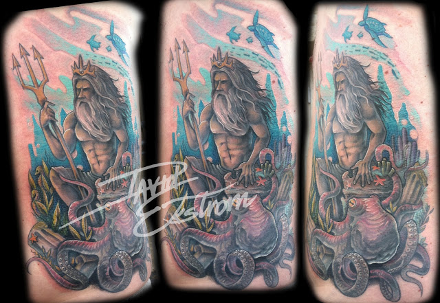 Grey Turtle And Octopus Tattoos photo - 1