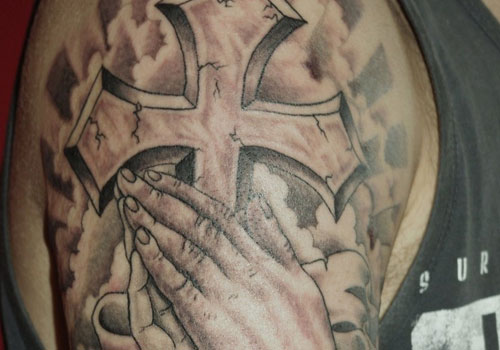 Half Sleeve Angel Tattoo photo - 2