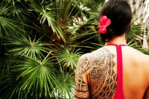 Hawaiian Tribal Tattoos On Sleeve photo - 2