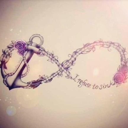 I Refuse To Sink Infinity Symbol Tattoo Design photo - 1