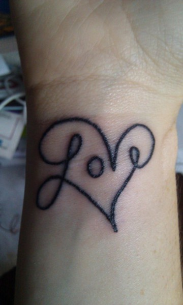 Infinite Love Wrist Tattoo photo - 2