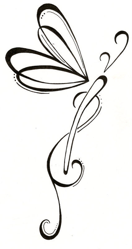 Infinity Dragonfly Tattoo Design photo - 1