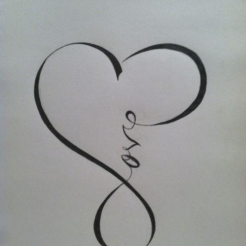 Infinity Love And Commitment Tattoo Design photo - 1