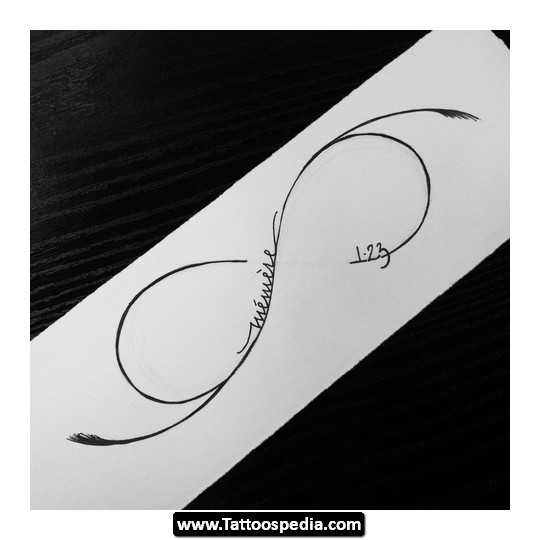Infinity Symbol And Letters Tattoo Design photo - 1