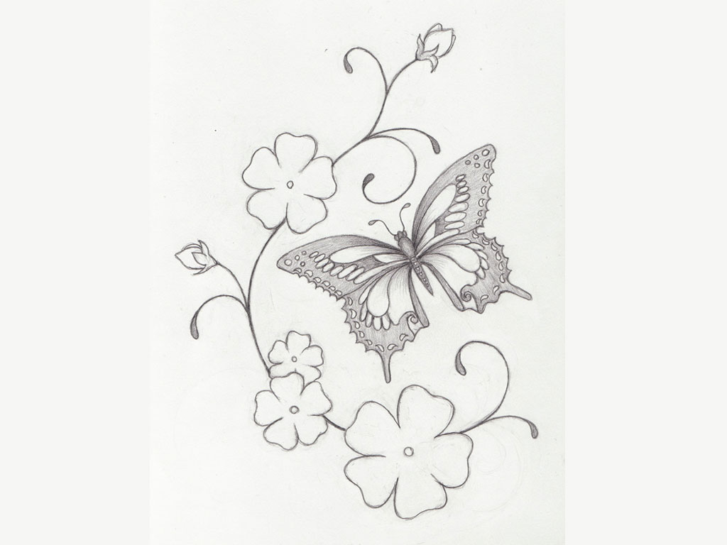 Japanese Mask And Blossoms Tattoo Design photo - 2