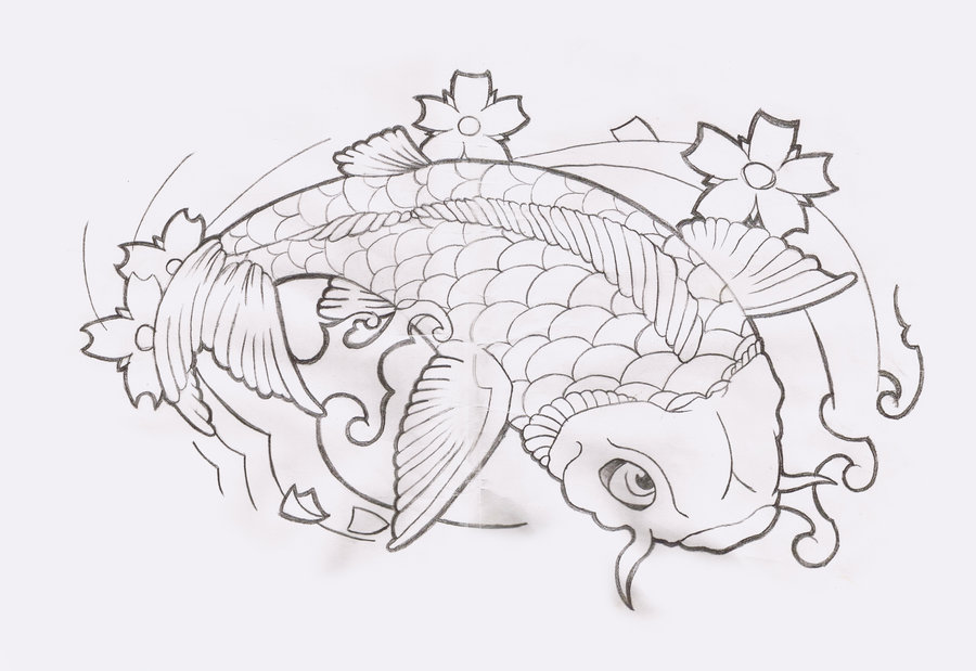 Japanese Mask And Blossoms Tattoo Design photo - 3