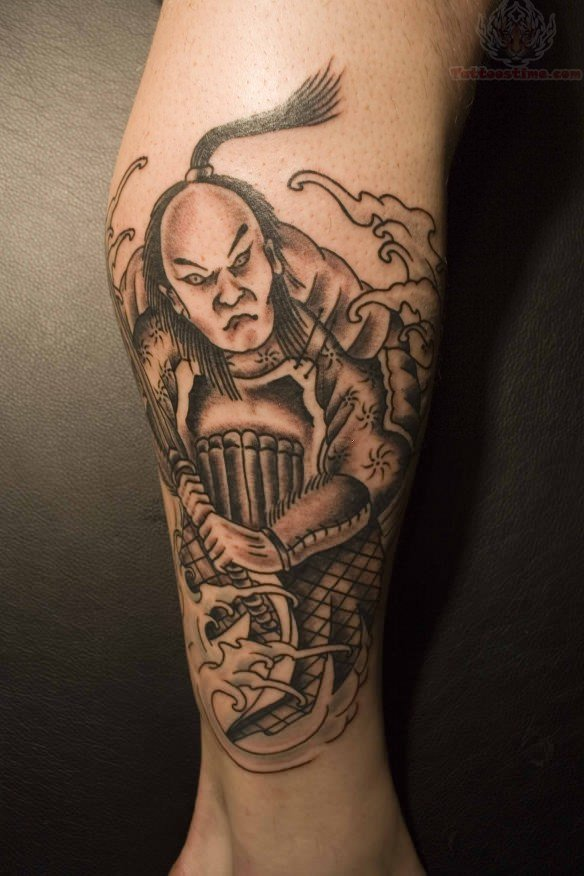 Japanese Mask Tattoo For Arm photo - 3