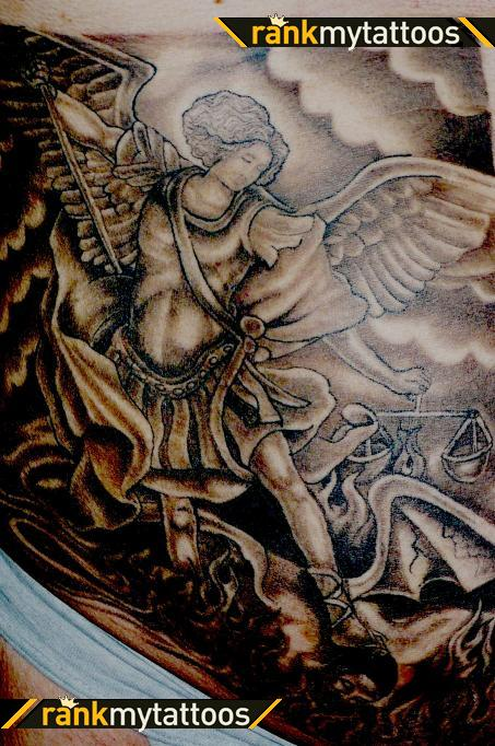 Justice Angel Glowing Tattoo photo - 1