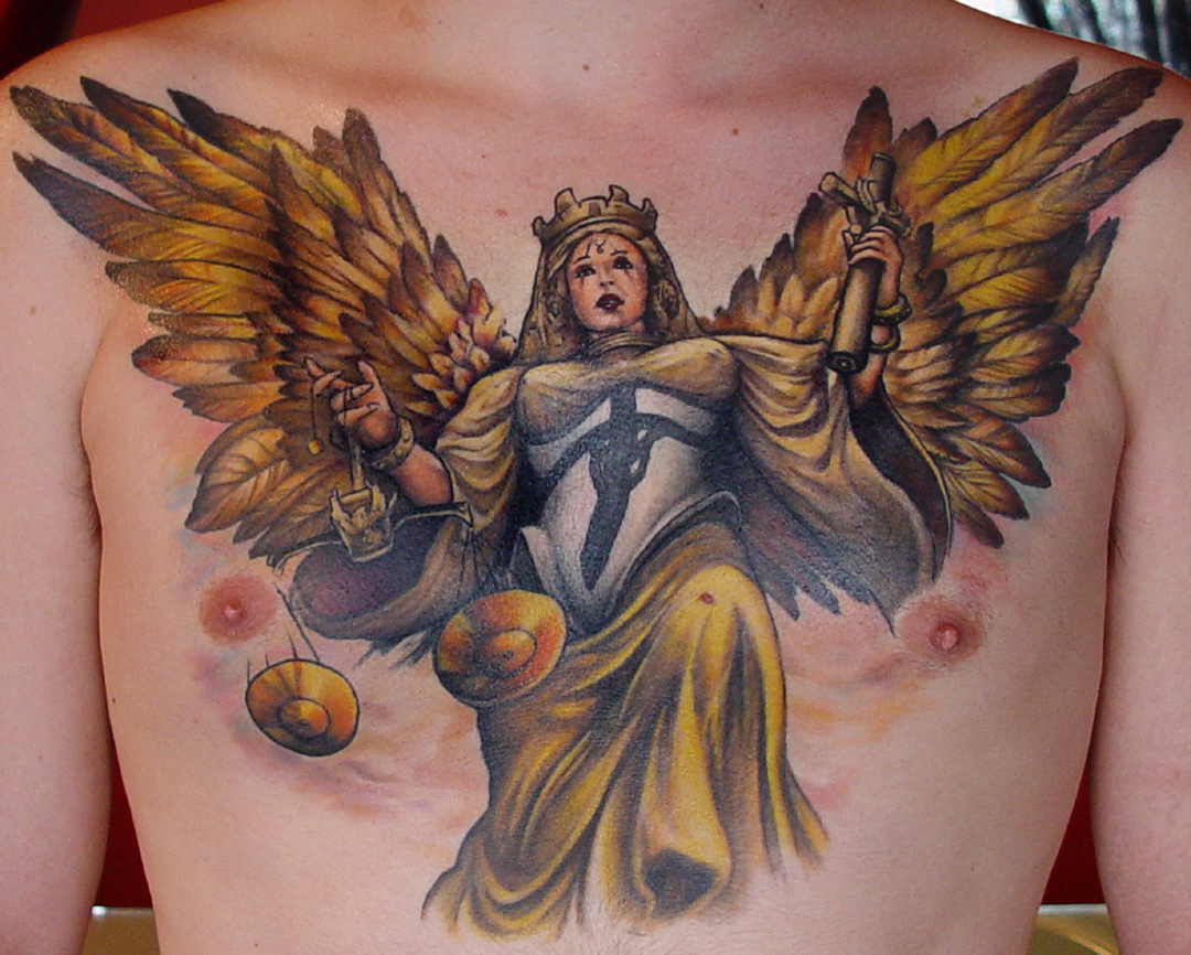 Justice Angel Glowing Tattoo photo - 2
