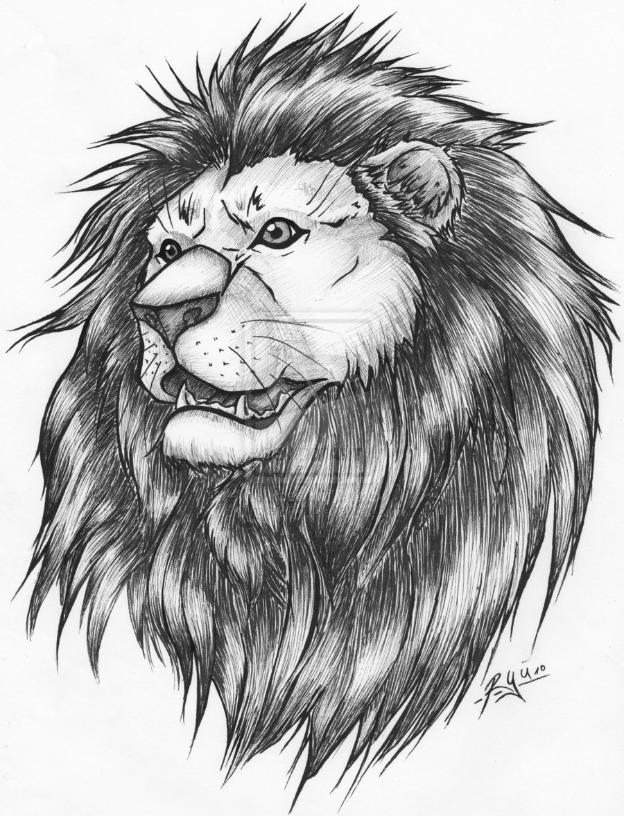 King Lion And Heart Tattoo Design photo - 3