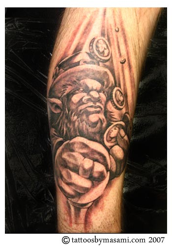 Leprechaun And Tribal Tattoo  Design photo - 3