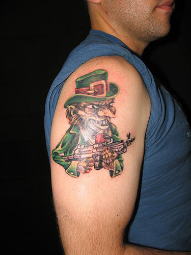 Leprechaun Face Tattoo Image photo - 1
