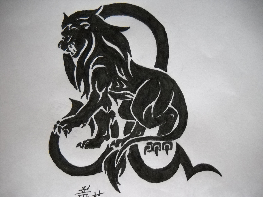 Lion And Zodiac Tattoo Designs photo - 2