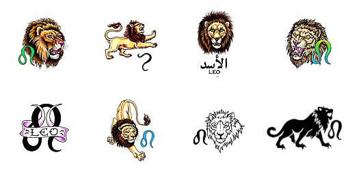 Lion And Zodiac Tattoo Designs photo - 3