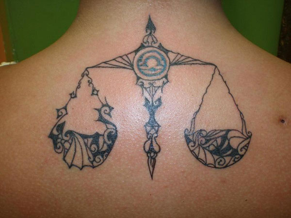 Little Libra Neck Tattoo photo - 2
