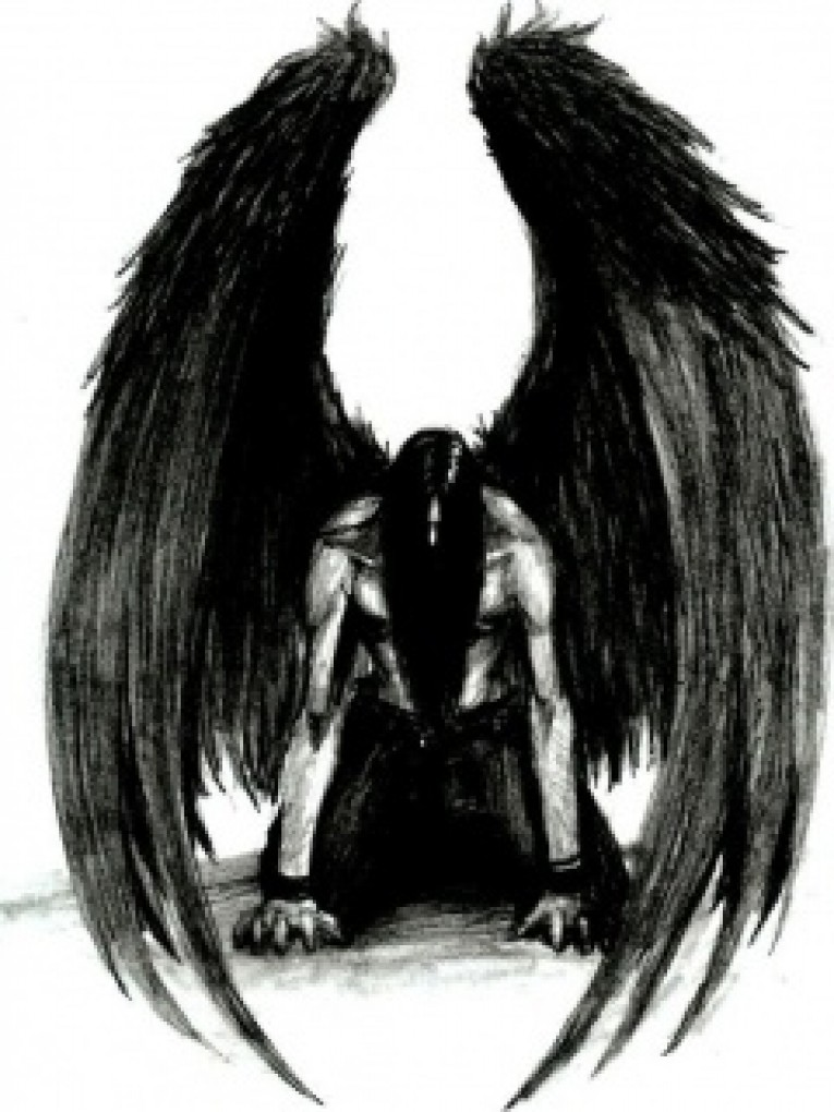 Long Winged Angel Tattoo Design photo - 2