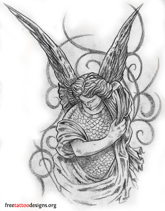 Love Angel Tattoo Design photo - 1