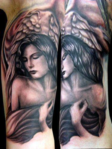 Lovely Angel Woman Tattoo photo - 2