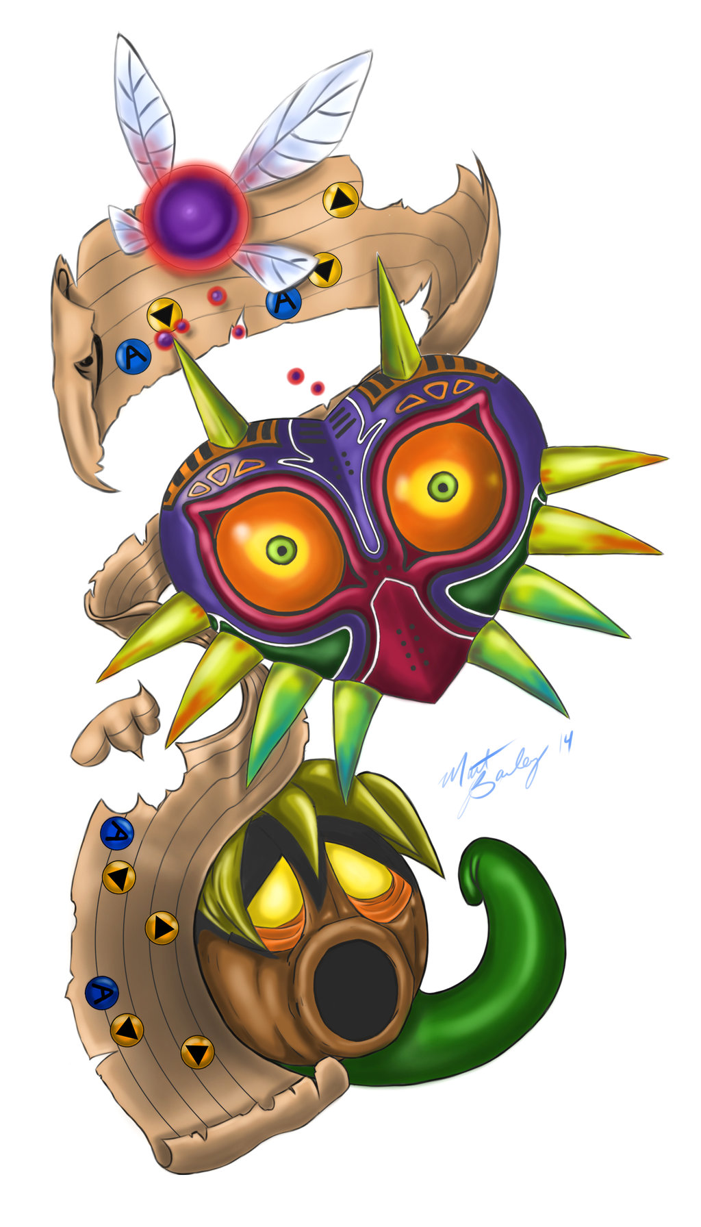 Majoras Mask Tattoo Designs photo - 2