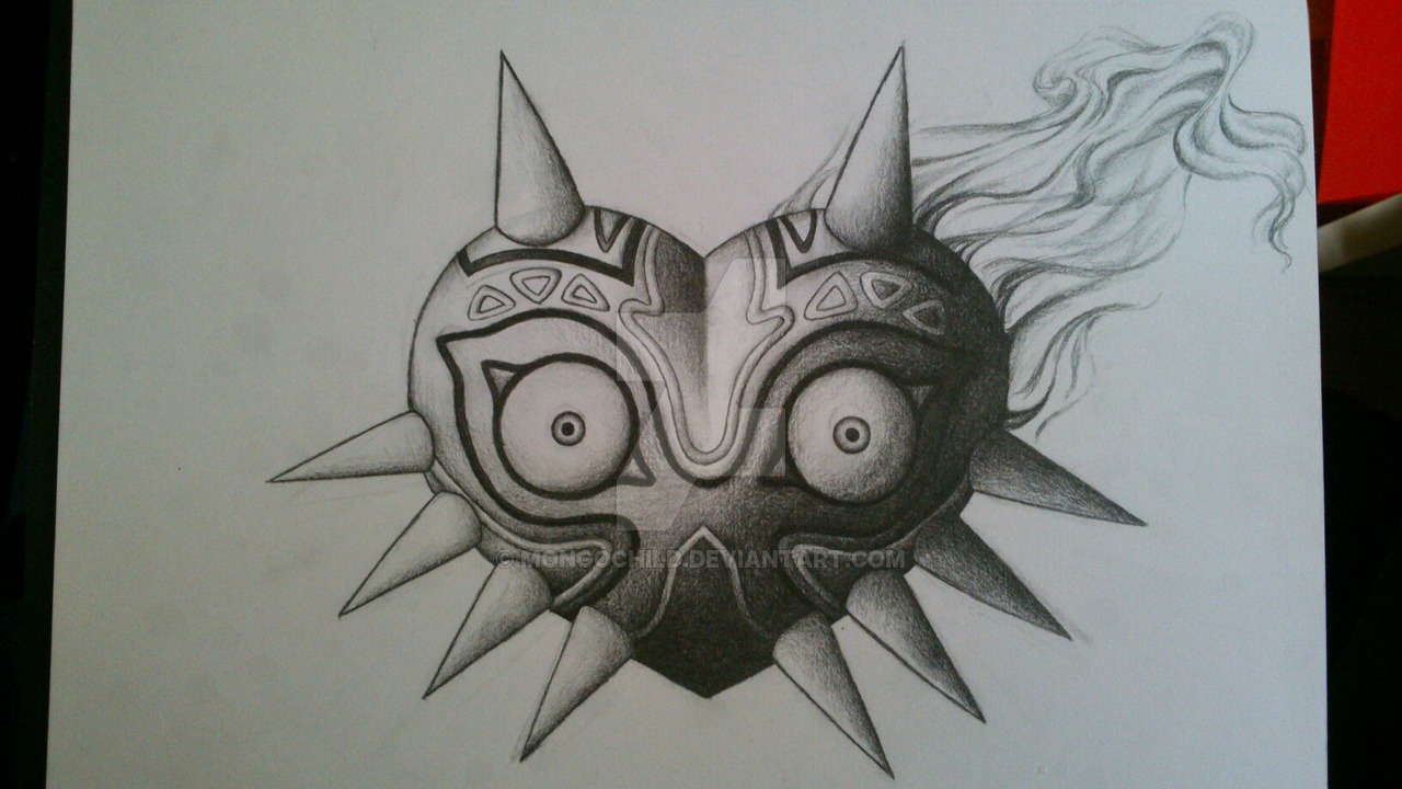 Majoras Mask Tattoo On Shoulder photo - 3