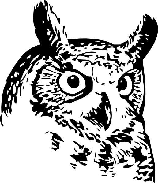 Maori Owl Tattoo Stencil photo - 2