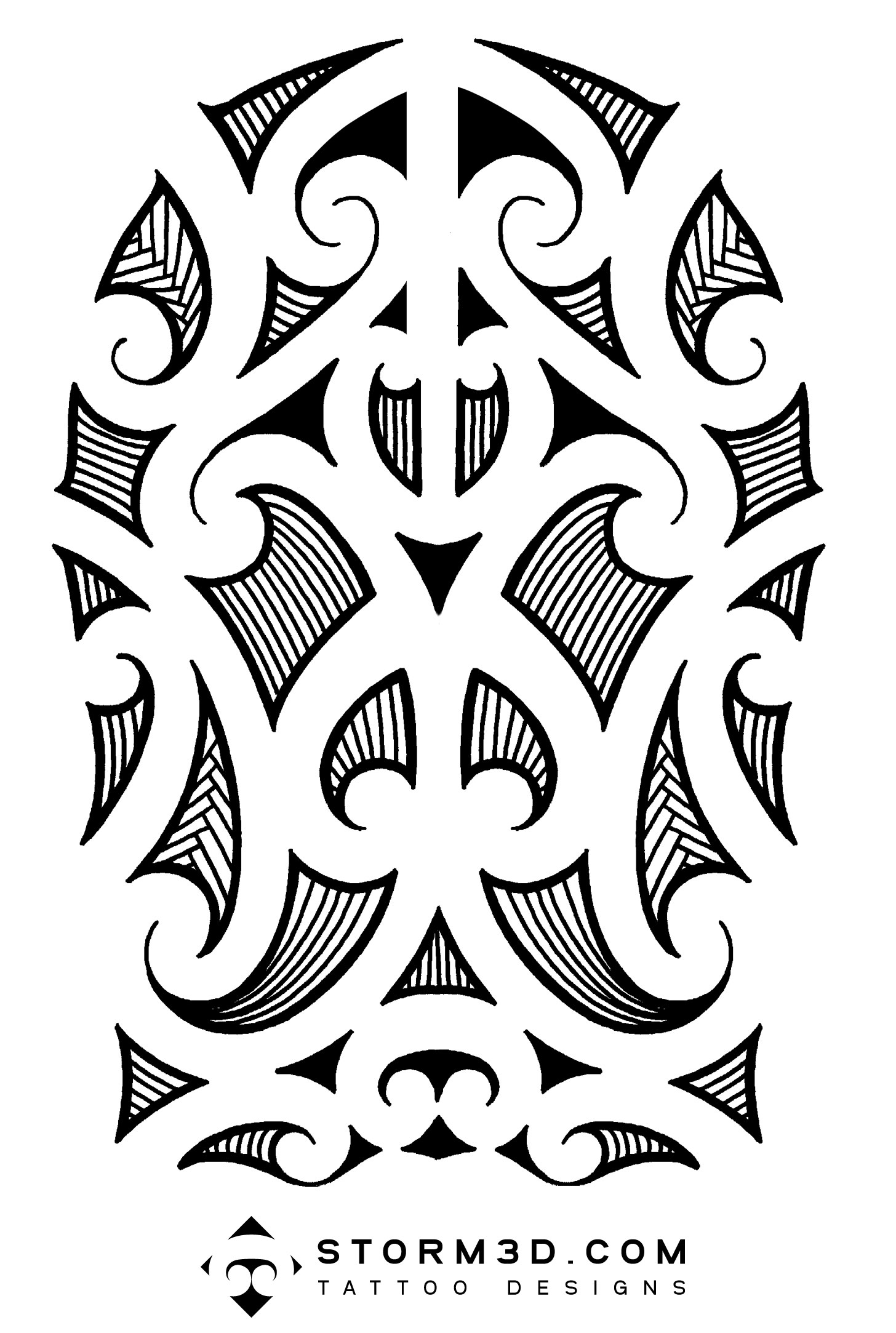 Maori Tribal Back Leg Tattoo photo - 1