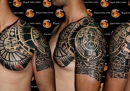 Maori Tribal Tattoos On Half Sleeve photo - 3