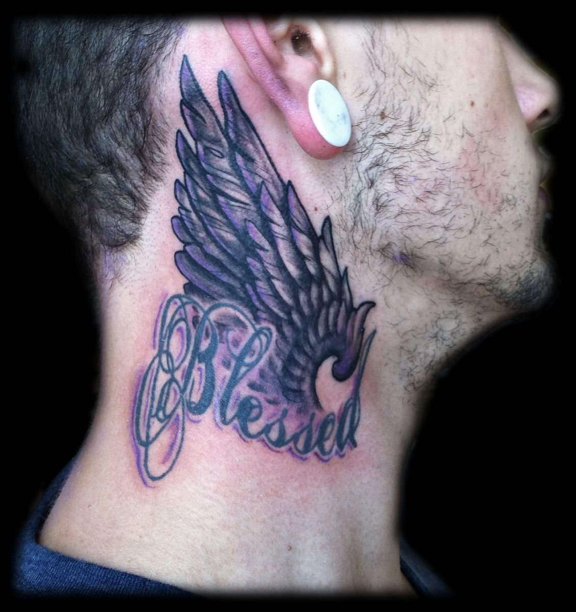 Memorial Side Neck Tattoo photo - 1