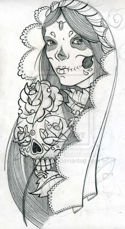 Mexican Skull And Skeletons Tattoo Designs photo - 1