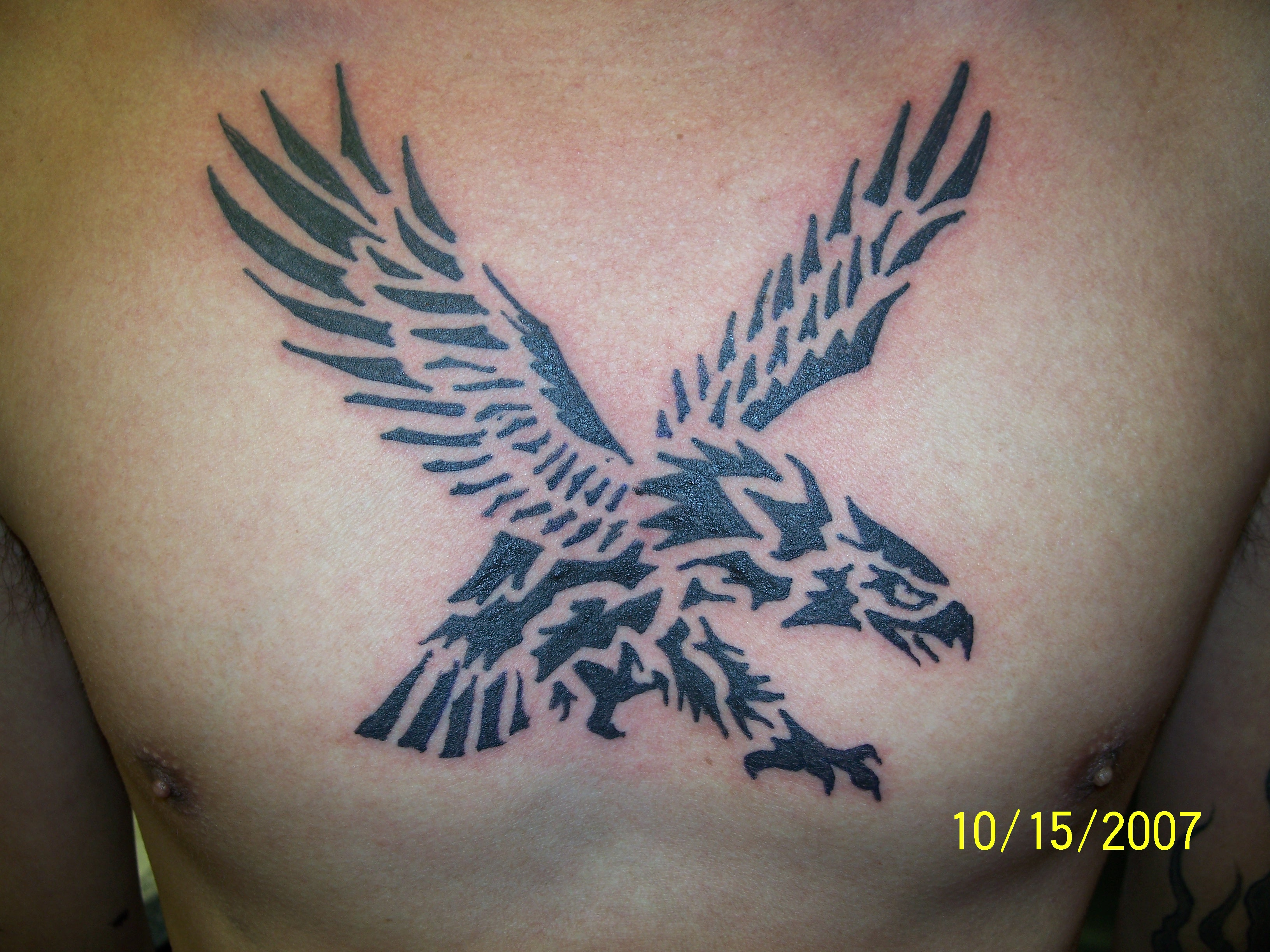Mexican Tribal Eagle With Snake Tattoo photo - 1