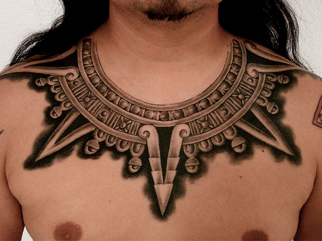Mexican Tribal Eagle With Snake Tattoo photo - 3
