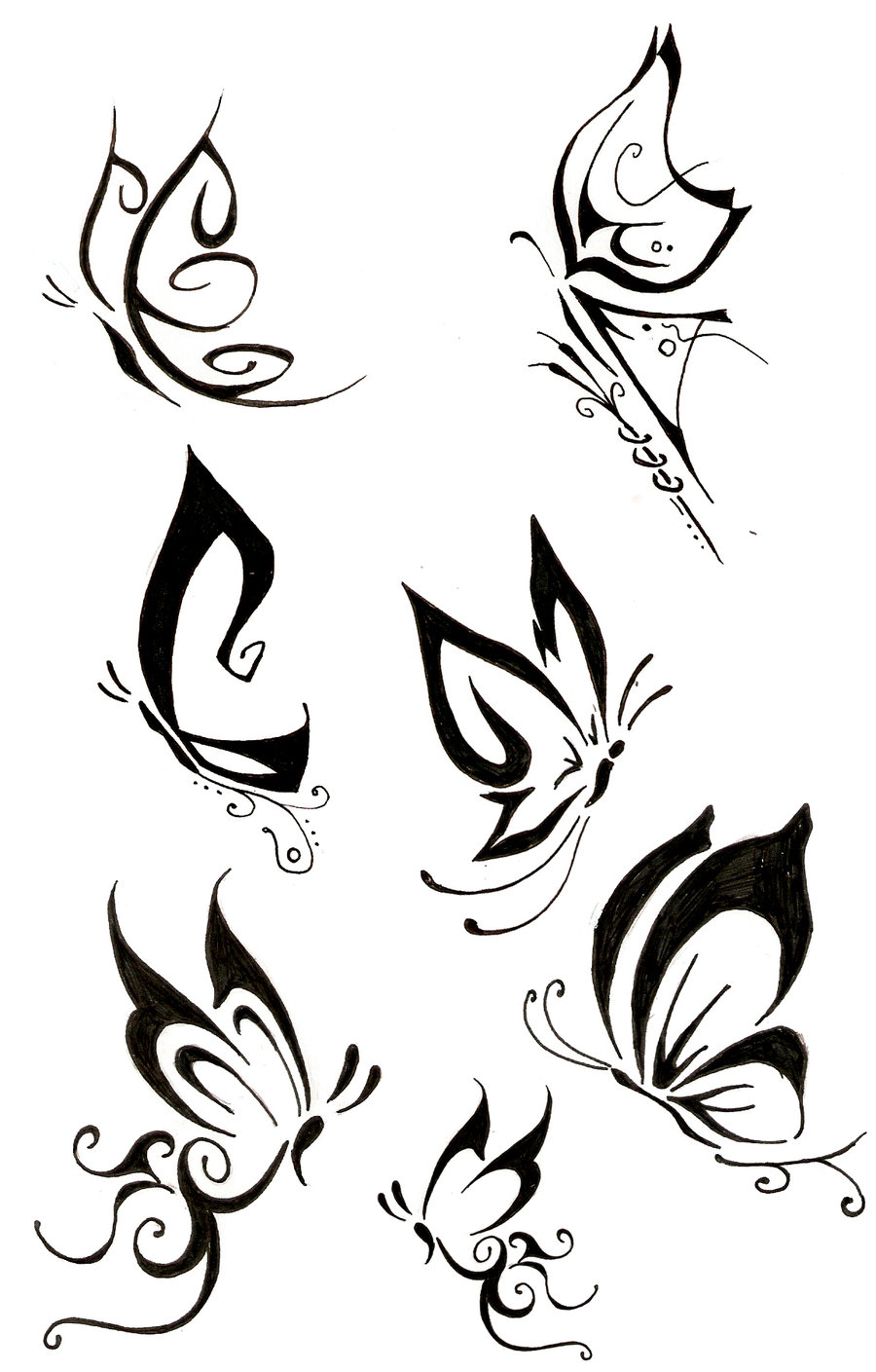 More Tribal Butterfly Tattoo Designs photo - 1