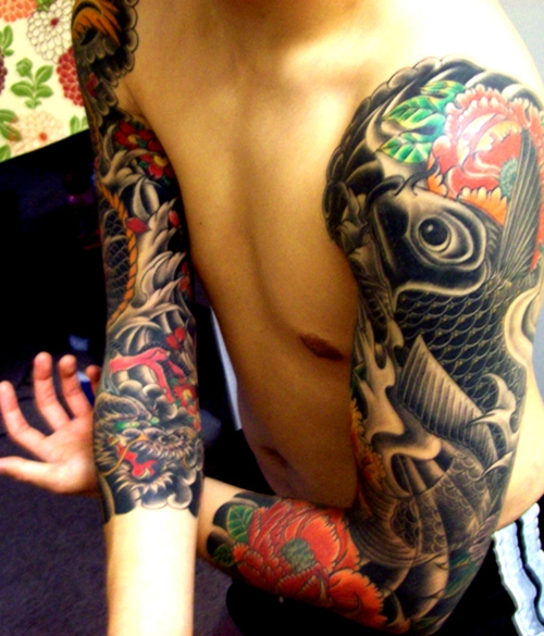 Music Notes Moon And Owl Tattoos On Shoulder photo - 3