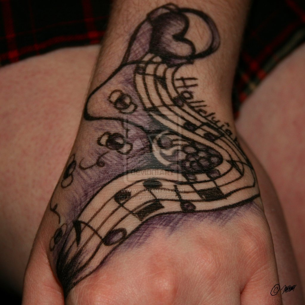 Music Symbols n Kokopelli Tattoo Design photo - 1