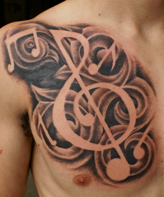 Musical Notes Tattoo Designs photo - 2