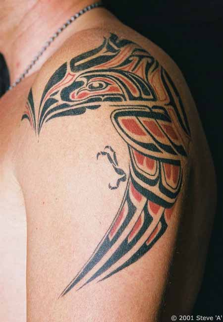 Native Tribal Indian Bird Tattoo photo - 1
