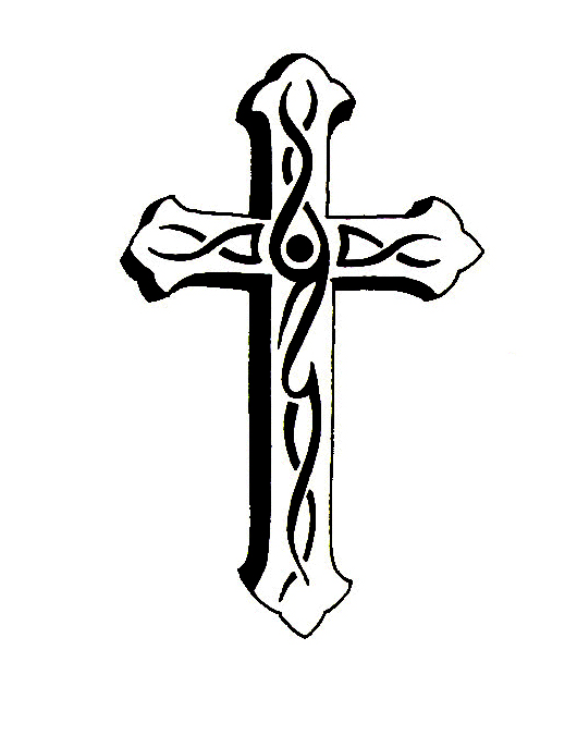 New Tribal Cross Tattoo Design photo - 2