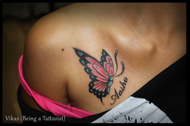 Nice Colour Butterfly Tattoo photo - 1
