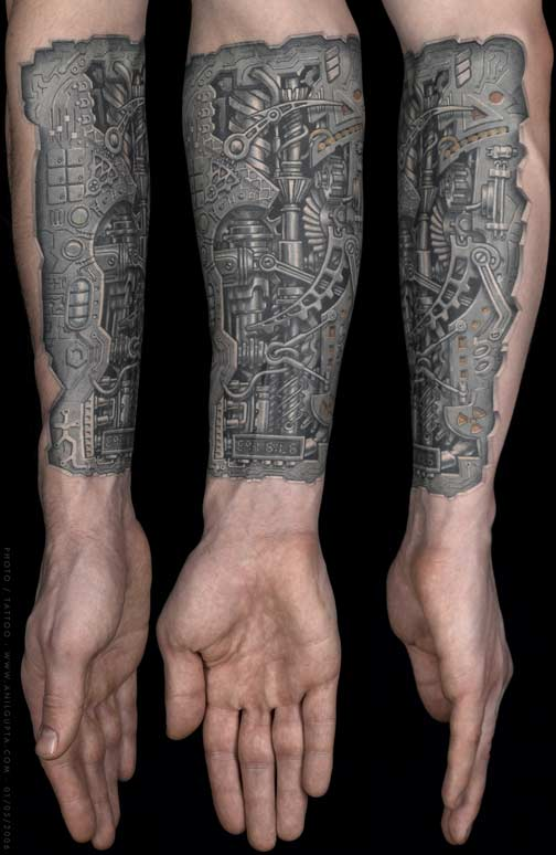 Nice Tribal Tattoo On Forearm photo - 1