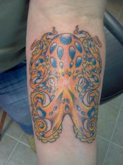 Octopus Foot Tattoo Pics photo - 1
