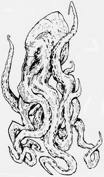 Octopus With Long Legs Tattoo Design photo - 1