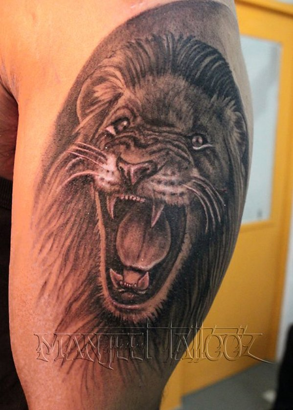 One More Angry Lion Tattoo photo - 1