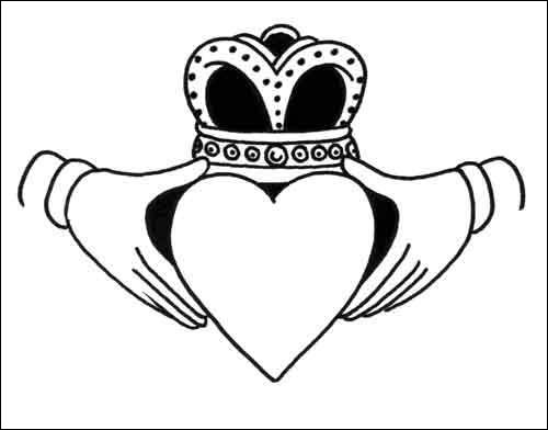 Outstanding Claddagh Tattoo Design photo - 1