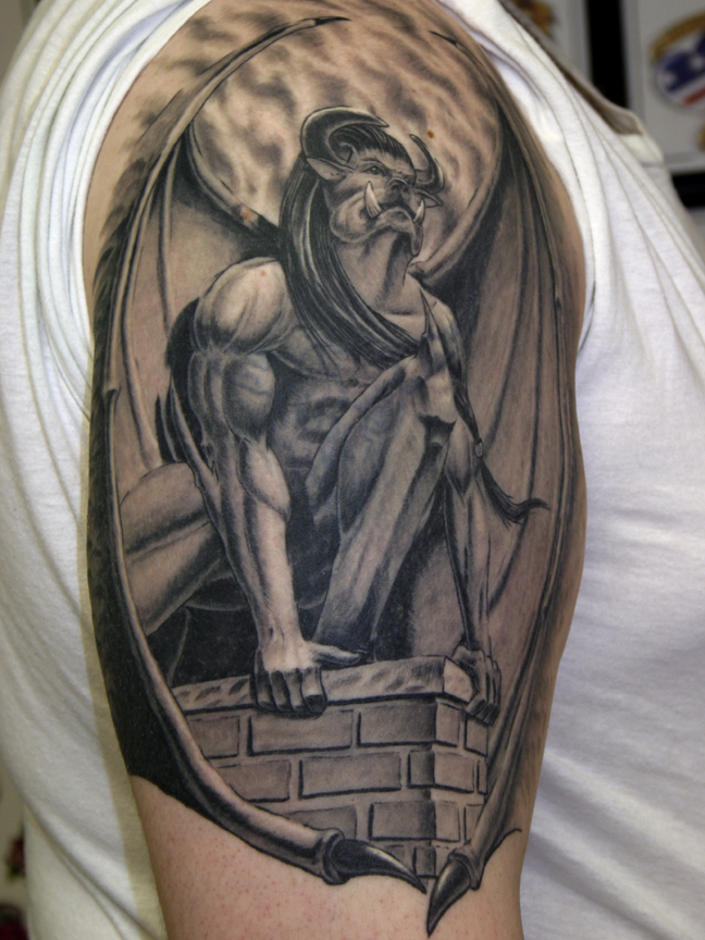 Outstanding Gargoyle Tattoo photo - 1