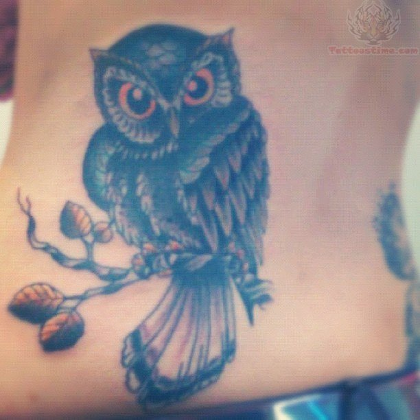 Owl With Banner Tattoos photo - 1