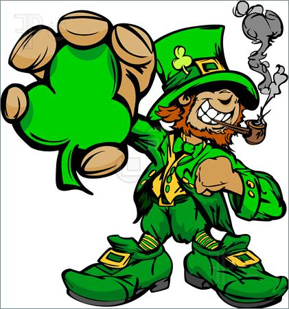 Patricks Day Leprechaun Tattoo Stencil photo - 1