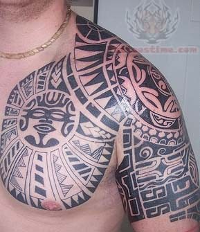 Polynesian wolf tattoo in 2017 real photo pictures for Polynesian tattoo near me
