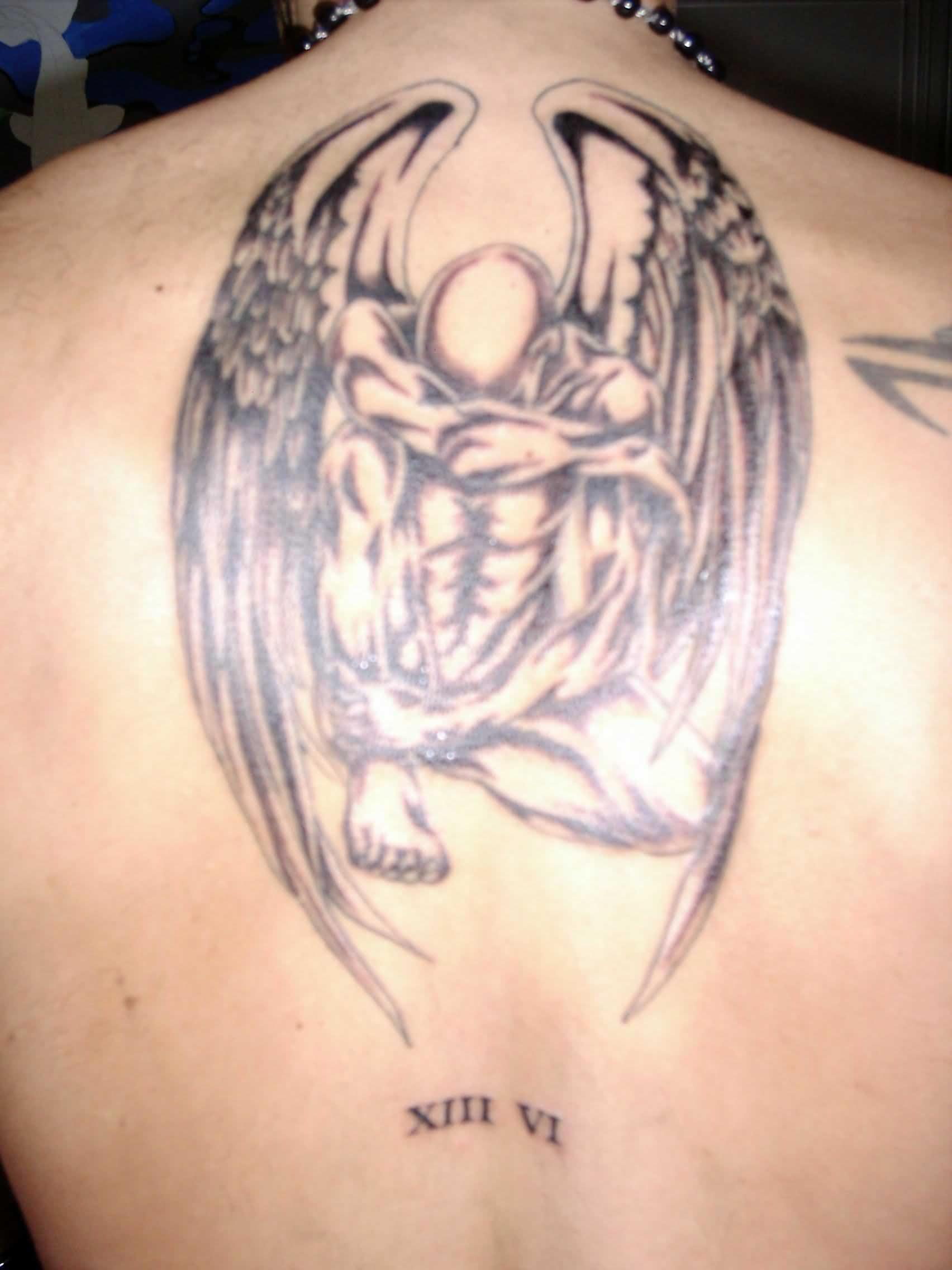 Praying Angel Girl Tattoo photo - 2
