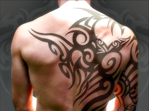 Really Cool Tribal Tattoo On Half Sleeve photo - 1