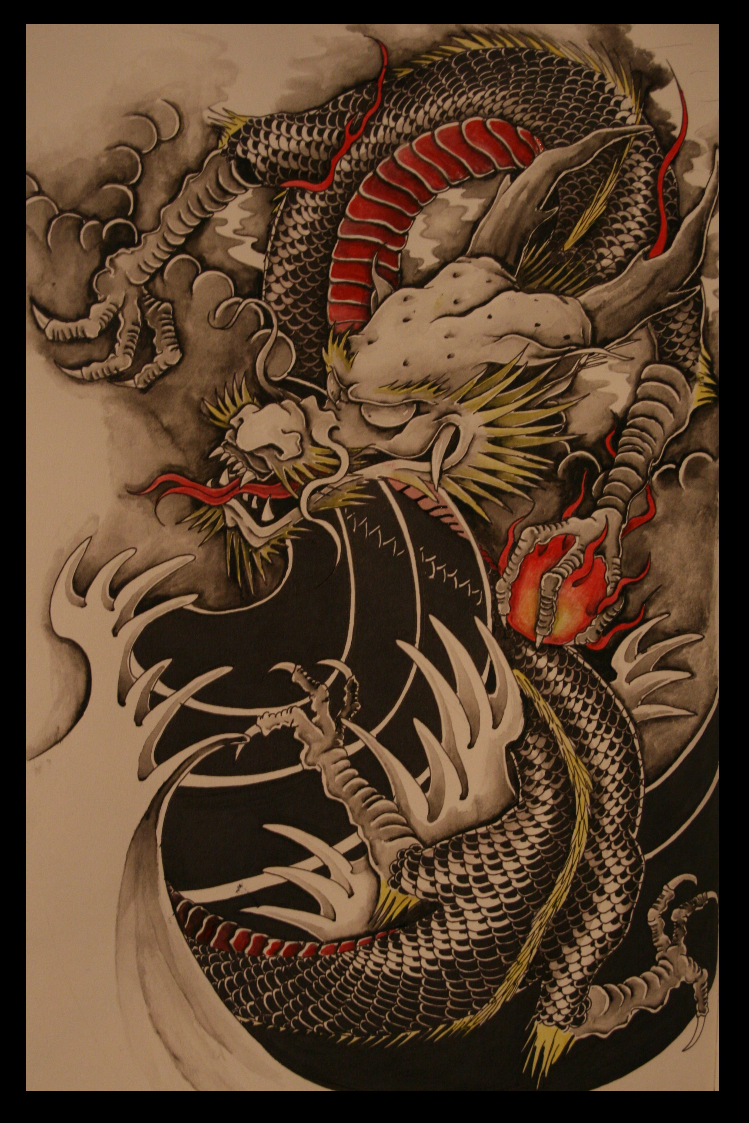 Red Hannya Mask Tattoo On Arm For Men photo - 3